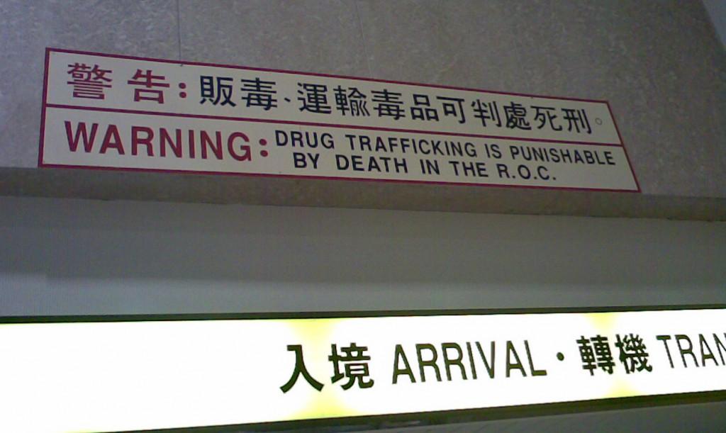 Drogen-Warnung Flughafen