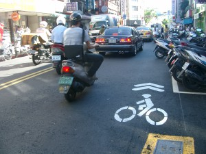 Taipei bike lane