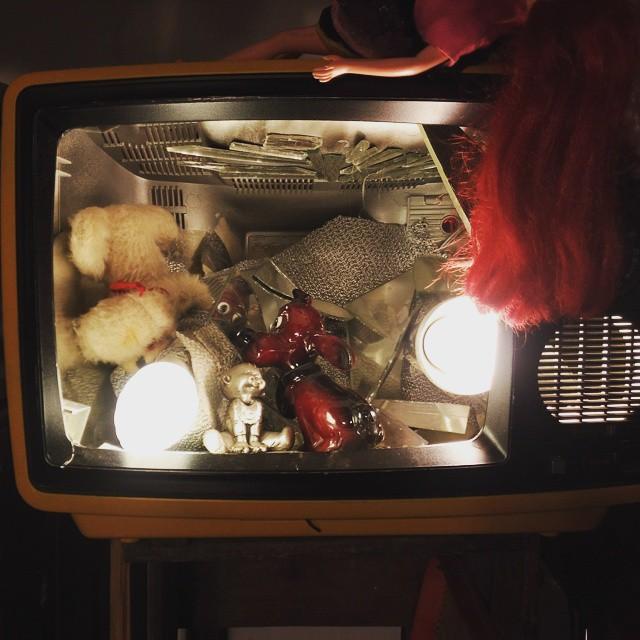 Old TV set transformed into an art installation hamburg karoviertelhellip