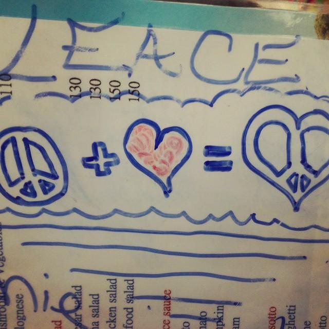 LOVE & PEACE = LEACE