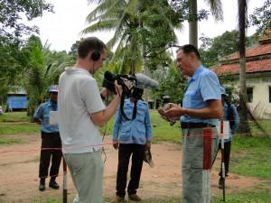 Kambodscha Minenfeld Fernsehen