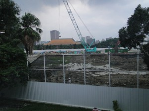 Songshan Tobacco Factory 2011 construction site