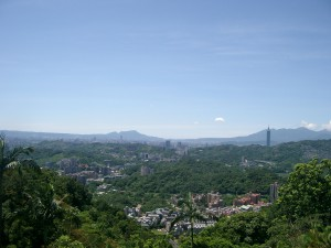 View over Taipei City with Taipei 101