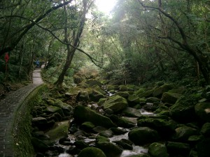 Hiking path near Taipei City