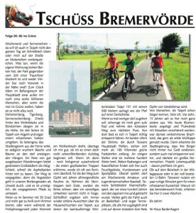 Zeitungsbericht über Parks in Taiwan