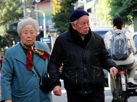 Taiwan senior citizens, couple