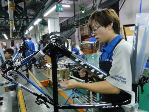 Giant bikes production Taiwan