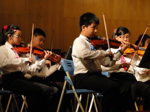 Schüler Konzert Taiwan Geigen