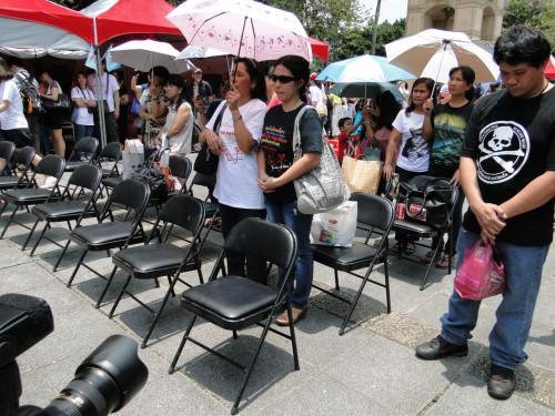 Schweigeminute Filipinos Taipei