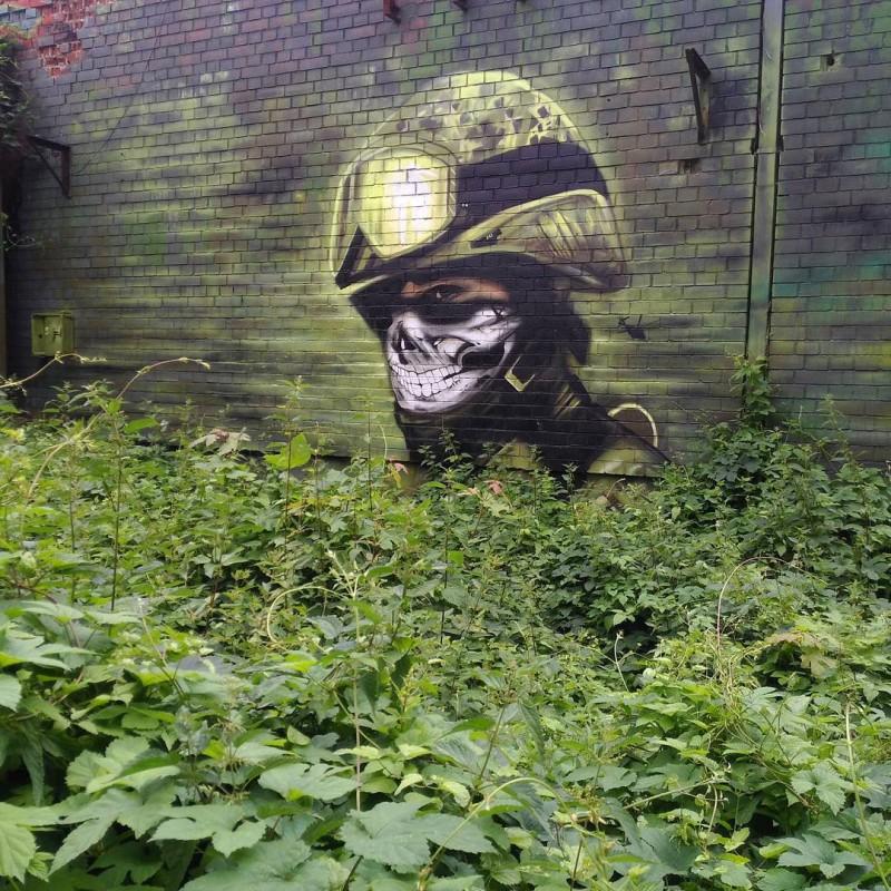 Graffiti on Teufelsberg Berlin