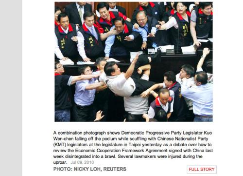 Taiwan Parliament Brawl