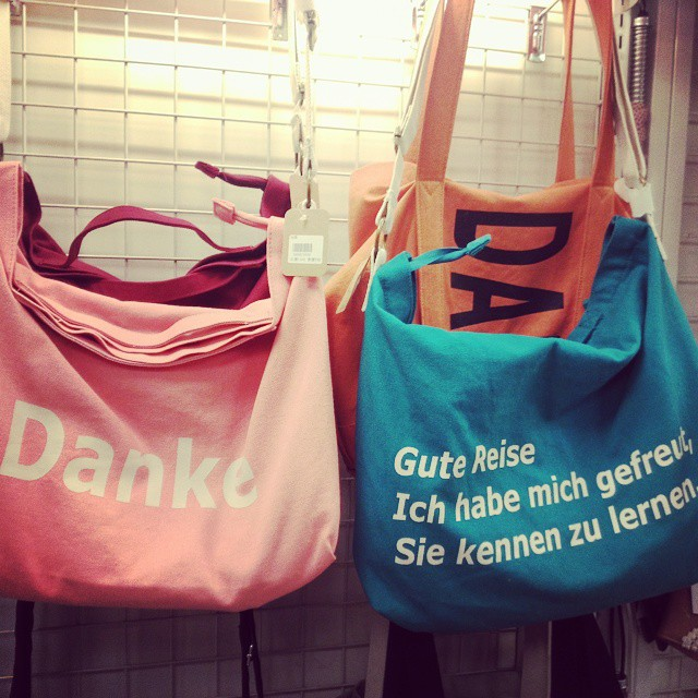 The #German you find on Taiwanese bags...
