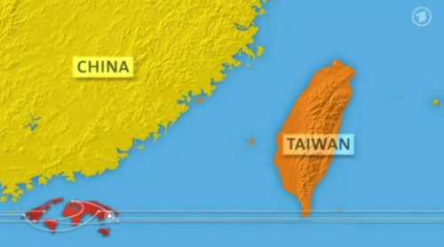 ARD Weltspiegel Karte Taiwan China