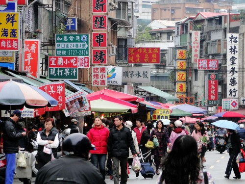 Taiwan Markt Straße