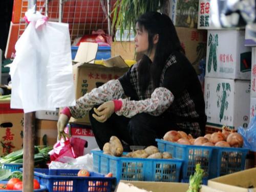 Taiwan Marktstand Gemüse