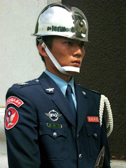 Ehrenwache Taiwan Soldat