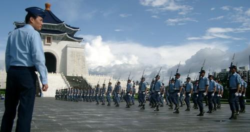 Taiwan Militär exerzieren Soldaten