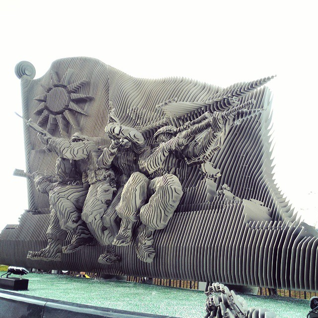 #Artwork in front of Taiwan's Defense Ministry. #military #army #airforce…