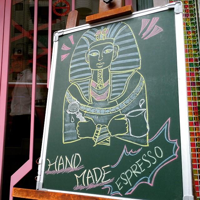Meet #Pharaoh #Tutankhamun, the original #Barista.
