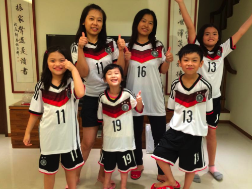 Taiwan Fußball Familie