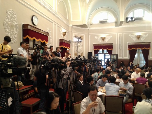 Press conference journalists