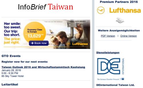 Infobrief Taiwan