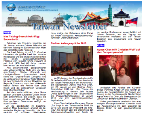 Taiwan Newsletter Berlin