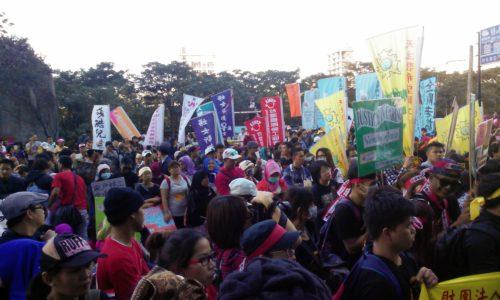 Gastarbeiter Demo Taipeh