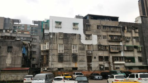 Old apartment buildings in Taiwan