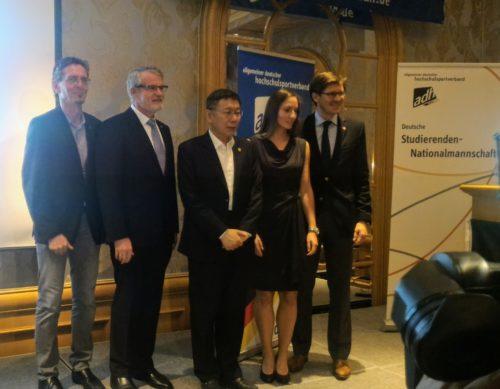 Deutscher Empfang zur Universiade mit Taipehs Bürgermeister Ko Wen-je