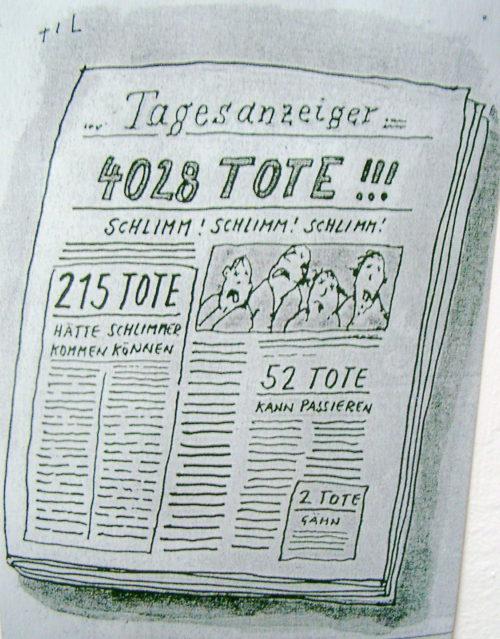 Zeitung Nachrichten Tote