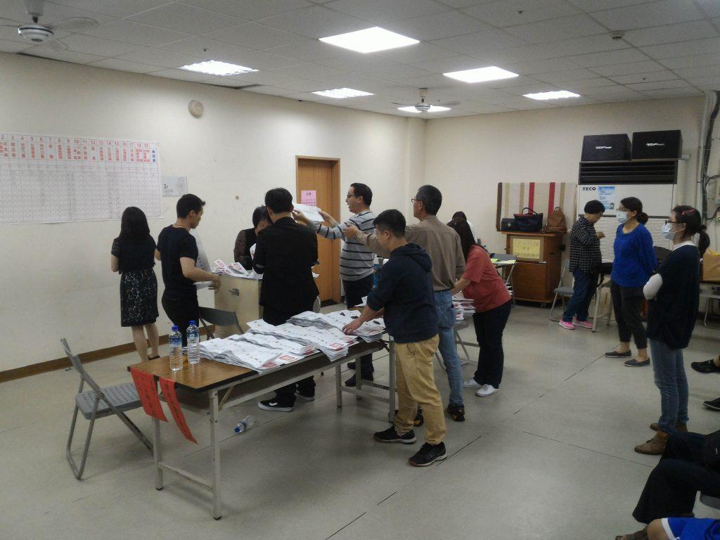 Wahllokal Taiwan