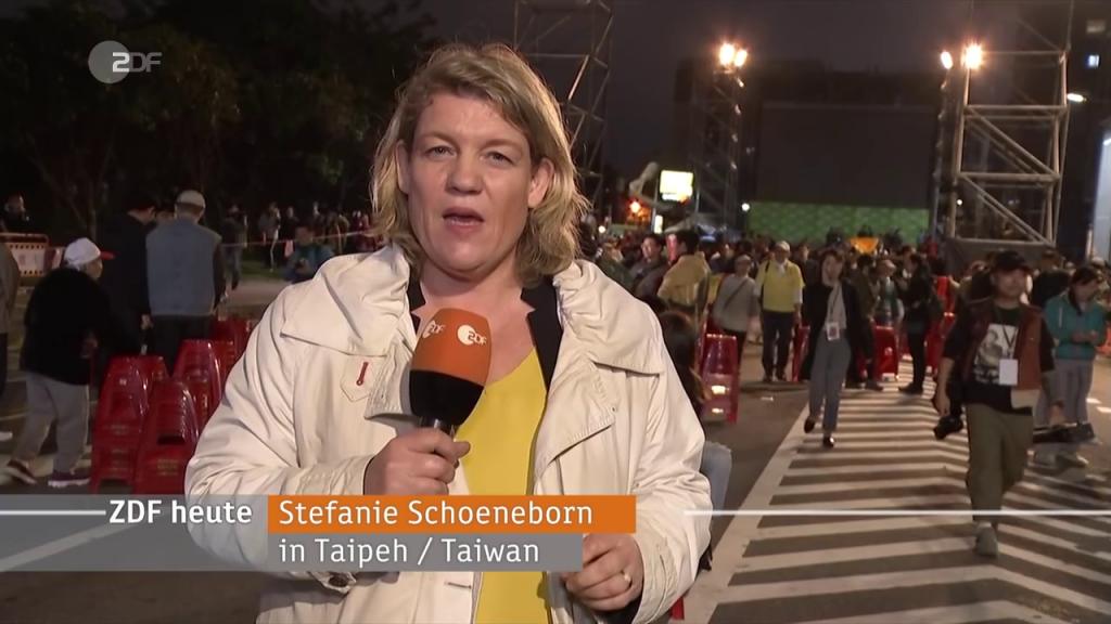 Stefanie Schoeneborn ZDF in Taiwan
